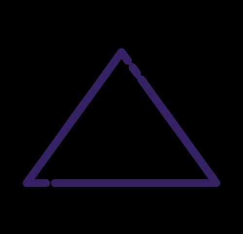 Minerva Kreativagentur USPs für die Gesundheit. Ein Icon eines Dreiecks steht für unsere Sprachen: Deutsch, Englisch und Medizin
