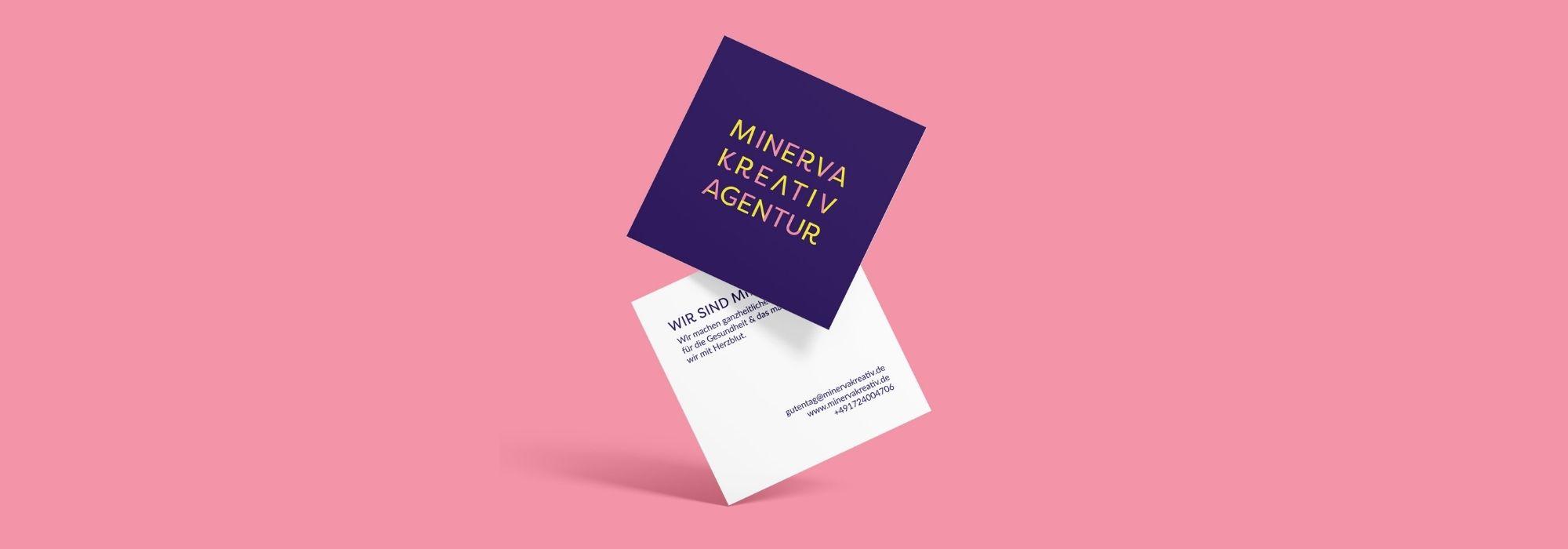 Minerva Kreativagentur Visitenkarten Design Printmedien für Mediziner